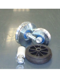Fekete kerék 60 forgó műanyag